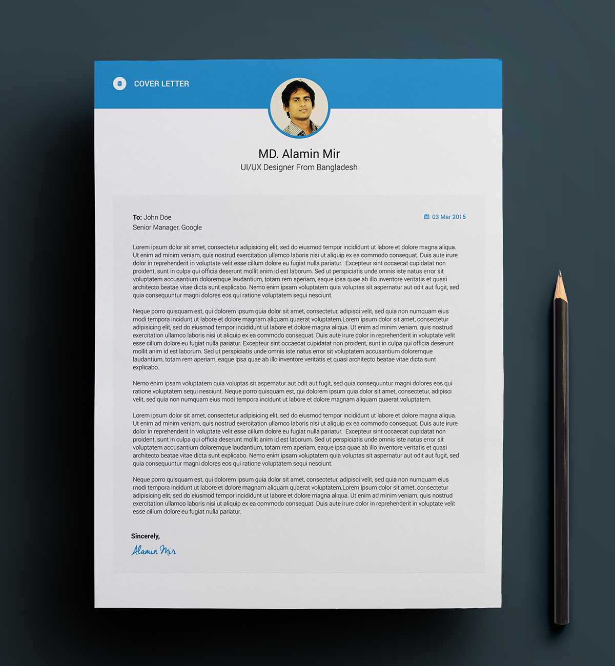 material resume template word