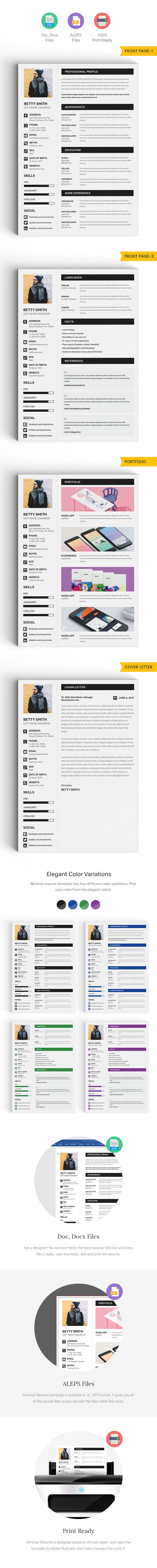 minimal resume template word