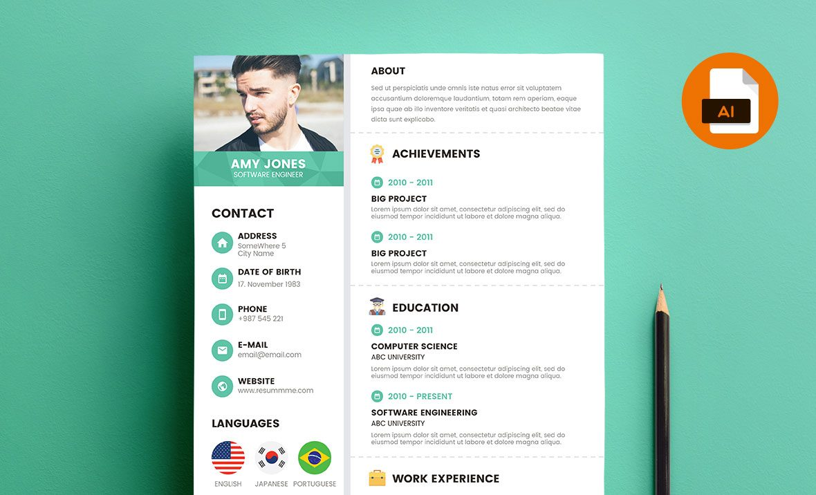 Free Resume Template AiEps From ResummmeCom