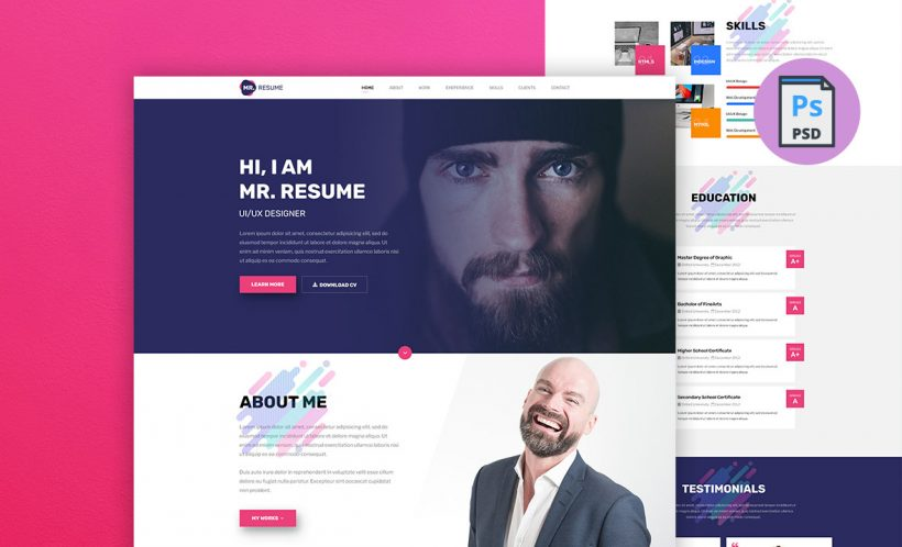 mr-resume-template-psd