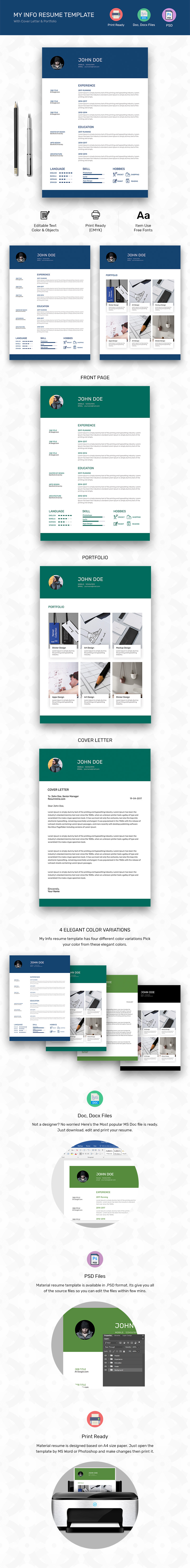 my info resume template word