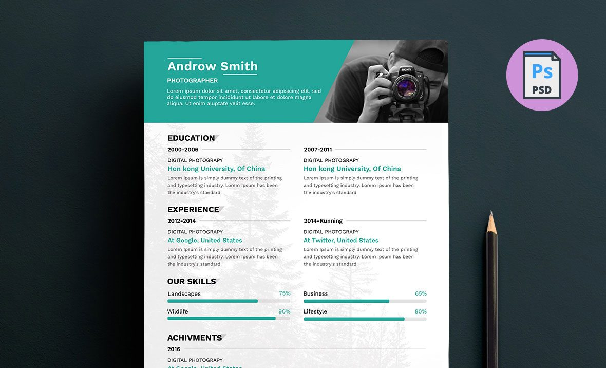 Great Photographer Resume Template