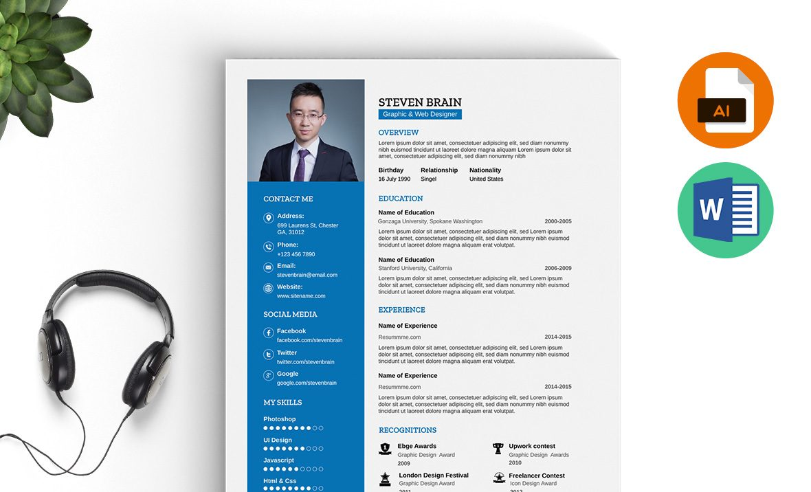 Professional Resume Template Ms Word Download  ResummmeCom