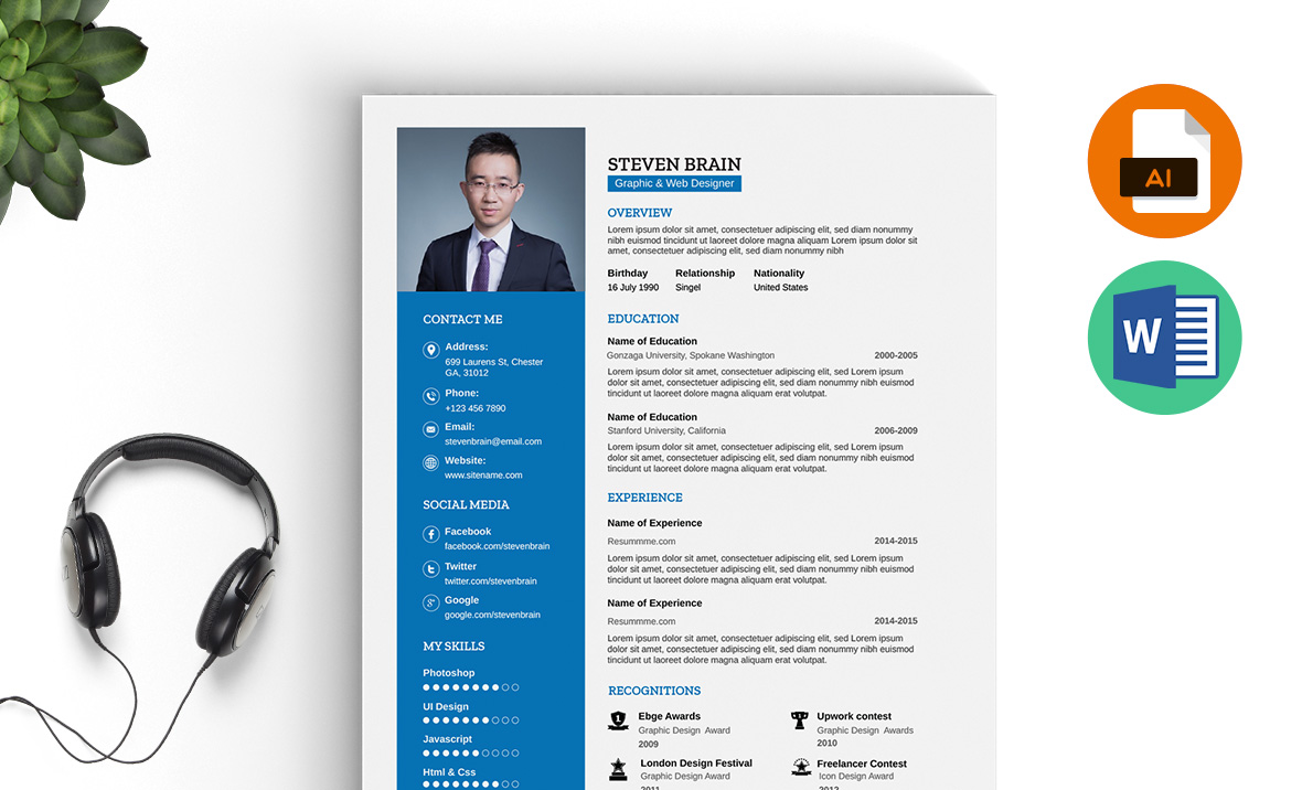 Professional Resume Template Ms Word Download Resummme Com
