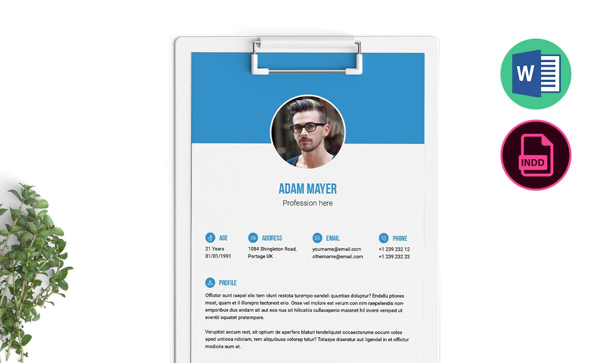 multipurpose resume template word