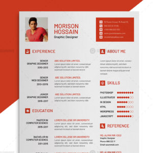 Graphic designer resume freemium