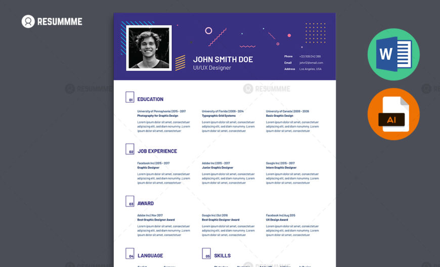 best resume templates ms word  psd  ai